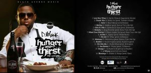Hunger and Thirst - Cover Art and Tracklist